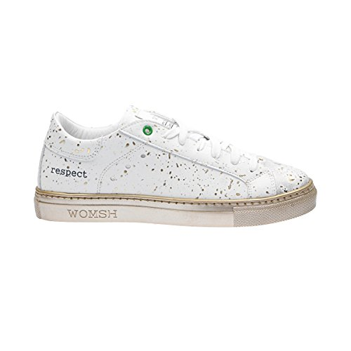 WOMSH HOMME K270654 BLANC CUIR BASKETS 83xxE