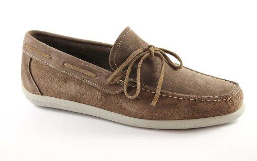 GRÜNLAND Nigo SC0846 taupe Schuhe Mannmüßiggänger Made in Italy Marrone