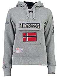 Geographical Norway - Sweat Femme Geographical Norway Gymclass Gris Clair