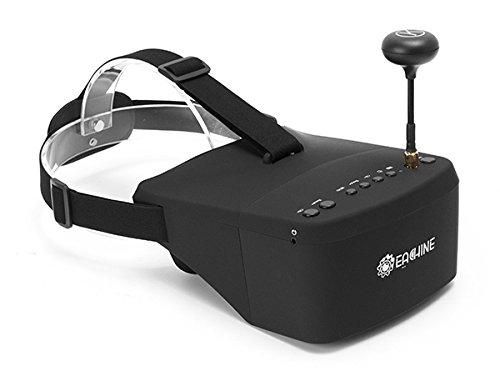 EACHINE EV800 FPV Brille 5 Inch 800x480 FPV Goggles 5.8G 40CH Raceband Auto-Suche Eingebaute Batterie für Quadrocopter