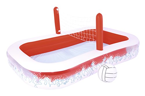 Piscina Hinchable Infantil con Red Voleibol Bestway Inflate-A-Volley 254x168x97 cm