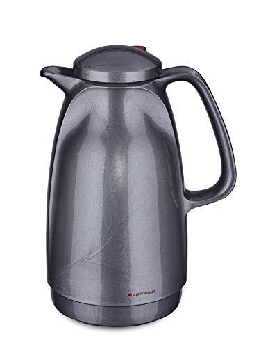 ROTPUNKT Isolierkanne 227 1,5 l Neuheiten Doppelwandige Vakuumisolierung | Zweifunktions-Drehverschluss | BPA Frei- gesundes Trinken | Made in Germany | Warm + Kalthaltung | Glaseinsatz (silverlight)