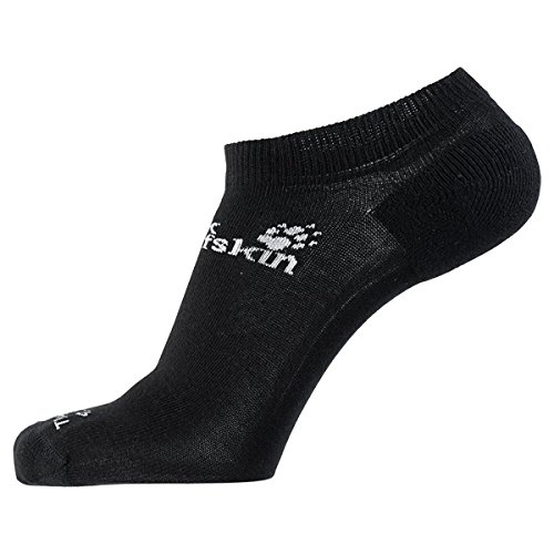Jack Wolfskin Socken Casual Organic Low Cut 2x, Black, 44-46, 1904351-6000446 (Casual Low Socken)