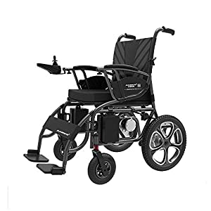 GYH Electric Wheelchair, Elderly Disabled Folding Wheelchair, Intelligent Portable Care Scooter (#)