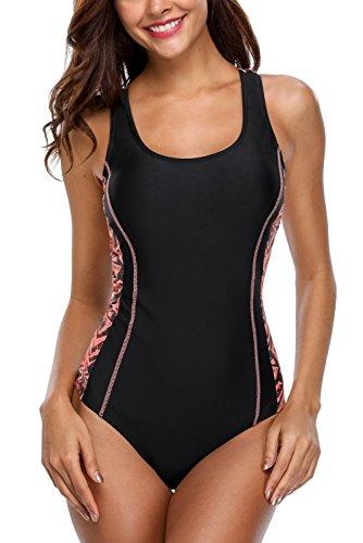 CharmLeaks Damen Einteiler Figuroptimizer Racerback Sport Badeanzug Elegance Dunkelblau & Blau XL