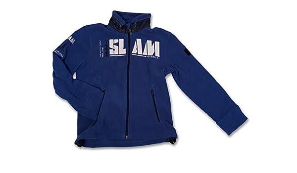 98e1b19b9b1a9e SLAM bambino/giacca in pile per bambini, blu, misura 136, AV0049:  Amazon.it: Sport e tempo libero