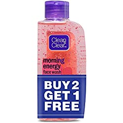 Clean & Clear Morning Energy Facewash, Berry, 100ml (Buy 2 Get 1 Free)