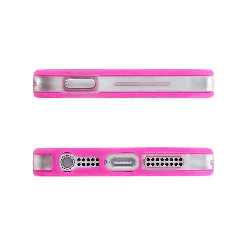Flip-Case APPLE IPHONE 5 [CroCoChic Premium] [Rosa] von MUZZANO + STIFT und MICROFASERTUCH MUZZANO® GRATIS - Das ULTIMATIVE, ELEGANTE UND LANGLEBIGE Schutz-Case für Ihr APPLE IPHONE 5 Fuchsie