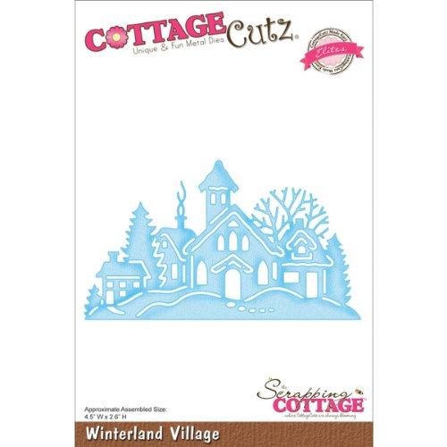 Cottage Cutz CCE054 Elites Stanzstanzen, 11,4 x 6,6 cm, Winterland Village - Cottage Cutz