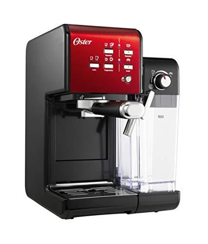 OSTER Cafetera espreso Prima Latte II, con Tratamiento de Leche, Rojo, 0