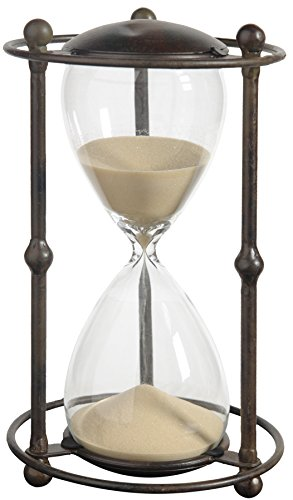 A&B Home A&B Home Althea Hour Glass Stand, 6.2 X 12.5 Inch, Tan