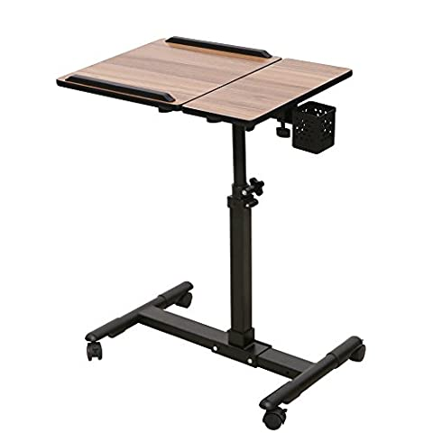 Redscorpion Mobile Laptop Computer Desk Adjustable Laptop Cart Table