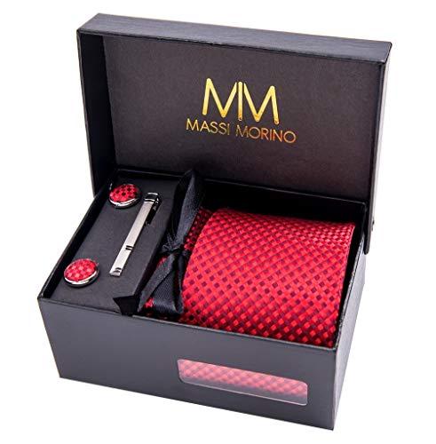 Massi Morino ® Hombre Designer corbata – caja conjunto