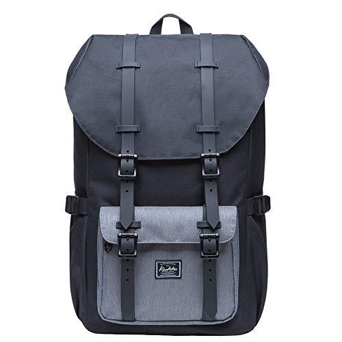 """KAUKKO Rucksack Damen Herren Studenten 17 Zoll Backpack für 15\"""" Notebook Lässiger Daypacks Schüler Bag für Wandern 46 cm, 20 L"""