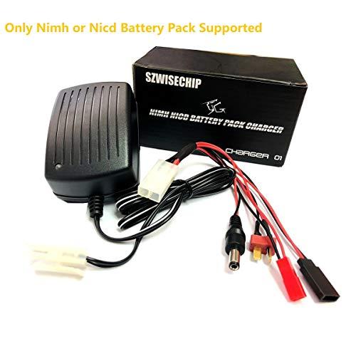 Szewisechip per airsoft batterie al Nimh e Nicd, 3 ~ 9 Pacco Batterie(3,6V, 4,8V, 6V, 7,2V, 8,4 V, 9,6V e 10,8V) Caricabatterie 1A veloce per Macchine, Treno