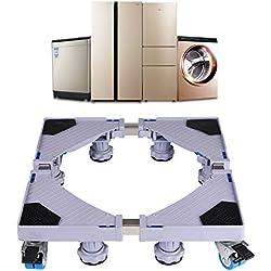Base de Machine à Laver Réglable 45cm-70cm Support Charge 300 kg Réduction du Bruit Effet Avec pour Réfrigérateur / Machine à Laver / Sèche-linge