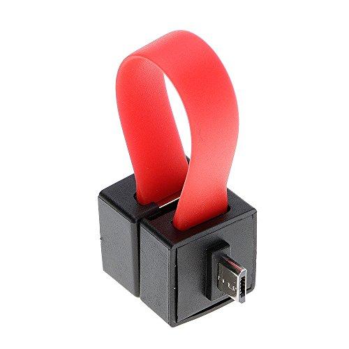 Ladegerät Ultra Mini AA/AAA Akku Powered Notfall Handy Ladegerät Reisen Backup Ladegeräte für Android Smartphones, rot ()