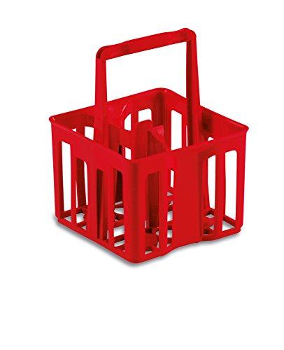 Vigor-Blinky 8220520 Porta Bottiglioni, Rosso, 25x25x32.5 cm