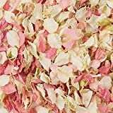 Natural Biodegradable Delphinium Wedding Confetti - 26 Colours Available (Cream & Pink, 1 Litre)