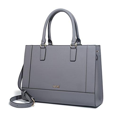Kadell Womens Large Capacity Matte Leder Tote Handtaschen Geldbörse Schulter Satchel Taschen Dunkelgrau (Schulter Klassische Tasche Vintage)