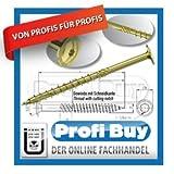 Dresselhaus JD Plus - Tornillos de construcción Torx (8 x 200 mm, cromados, 50 unidades, cabeza avellanada con ranuras de fresado, rosca parcial), col
