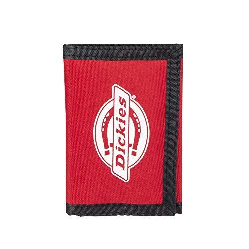 Red Tri-fold Wallet (Dickies Herren Nylon Trifold Wallet Geldbörse, rot, Einheitsgröße)