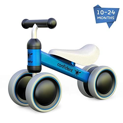 XIAPIA Bicicleta sin Pedales para Niños, Bicicleta Bebe 1 Año Bicicleta Equilibrio 1 Año Bicicleta Infantil sin Pedales de Forma Animal Lindo de Regalo Favorito del Niño(Azul)