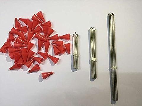 Mixed-3Taille Fléchettes en métal pour calibre .50Sarbacane