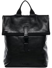 "FEYNSINN sac à dos MATS - grand - sac à dos en cuir approprié pour 15.4"" - backpack noir en cuir véritable"