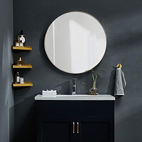 Yang Home- Messing Wand hängen Spiegel passend Kleidung Make-up Badezimmer ankleiden Runde Wand Veranda (größe : 100cm) - Messing Wand Spiegel