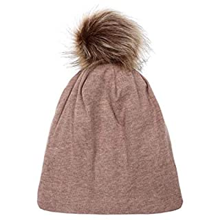 Oplon Baby-Nette beiläufige Feste mit Hairball-Hut-doppelter überlagerter Hut-Winter-Warmer Kappe Mütze, Schal & Handschuh-Sets