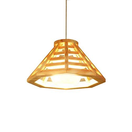 XHJJDJ Nordic Log Restaurant Kronleuchter Einfache moderne LED Lampen Personalisierte Gang Balkon...