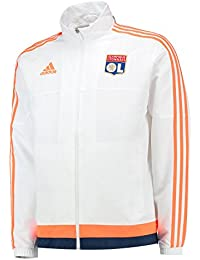 adidas OL Pres Suit - Chándal para hombre, color blanco / naranja / azul marino