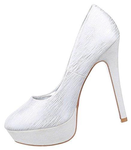 ... Damen Pumps Schuhe High Heels Stiletto Abendschuhe Plateau Schwarz Grau  gold silber 36 37 38 39 ...