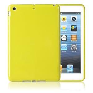Bingsale Coque rigide en silicone TPU pour Apple iPad mini Jaune