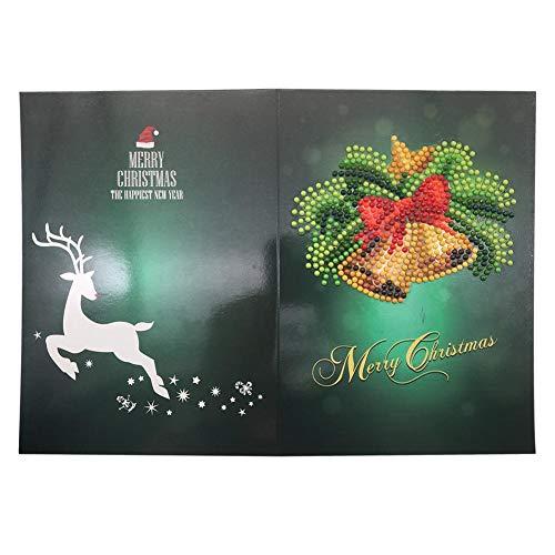 DIY 5d Diamant malerei grußkarte, gemälde Bilder Kunst Handwerk Weihnachten grußkarte für Festliche Geburtstag neujahrsgeschenk -