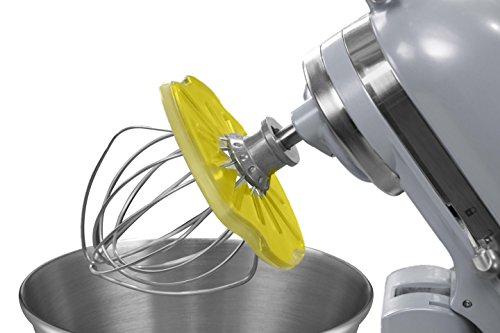Whisk Wiper® PRO for Stand Mixers - Mix Without The Mess - The Ultimate Stand Mixer Accessory - Compatible with KitchenAid Tilt-Head Stand Mixers - 4.5qt, 5qt (Color: Yellow)