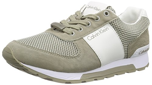Calvin Klein Jeans Dusty Mesh/Washed Nubuck/Smoot, Baskets Basses Homme Multicolore (GSI)