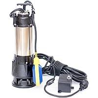 370W Fäkalienpumpe Schmutzwasserpumpe Tauchpumpe Abwasserpumpe mit Schneidwerk + Trockenlaufschutz + Überspannungsschutz