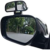 CS Glare Car Blind Spot Mirrors Adjustable 360 Degree Wide Angle Rear Side View 3R Parking Mirror