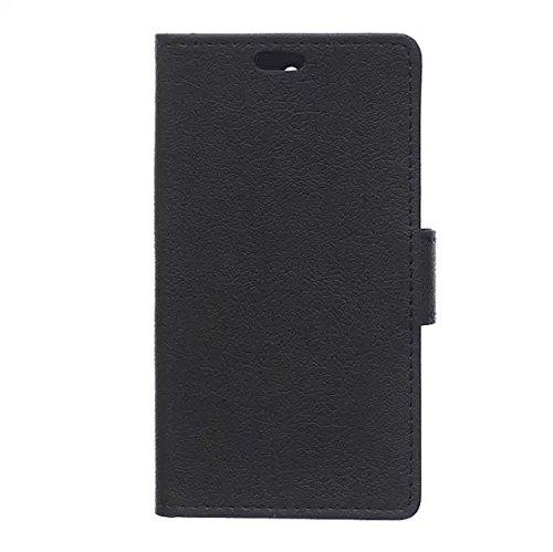 Kas Texture Pattern Horizontal Flip Stand Case Solide Farbe Leder Tasche Cover mit Karte Cash Slots für HTC Desire 828 ( Color : Red , Size : HTC Desire 828 ) Black