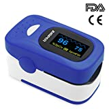 Jumper Finger Pulsossimetro 500A Meter Pulse Portable - SpO2 (Saturazione di Ossigeno nel Sangue) e Monitor di Frequenza Cardiaca - Con Display Digitale OLED, CE & Approvato Dalla FDA