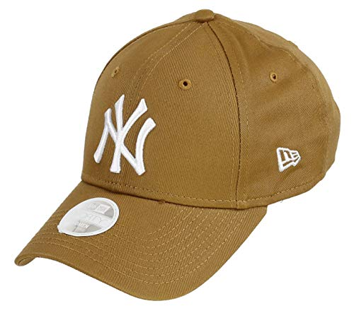 New Era York Yankees 9forty Adjustable Women cap League Essential  Brown White - One- fe190ee7989