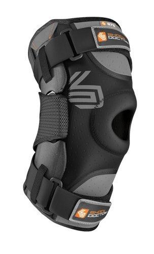 ShockDoctor Erwachsene Knieschützer Stützen Ultra Kniestütze mit Bilateralen Scharnieren, Black, XXL, 875-BK (Feuchtigkeitsregulierung Antimikrobielle)