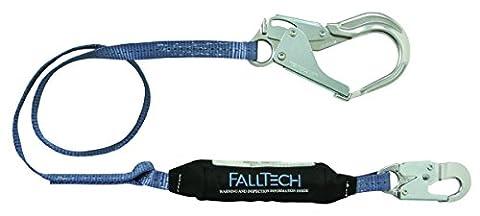 FallTech 82563A ViewPack, Aluminium SAL–Single Bein mit 1Aluminium Karabinerhaken und 1Aluminium, Mehrzweckmesser, Haken, 6', blau/schwarz