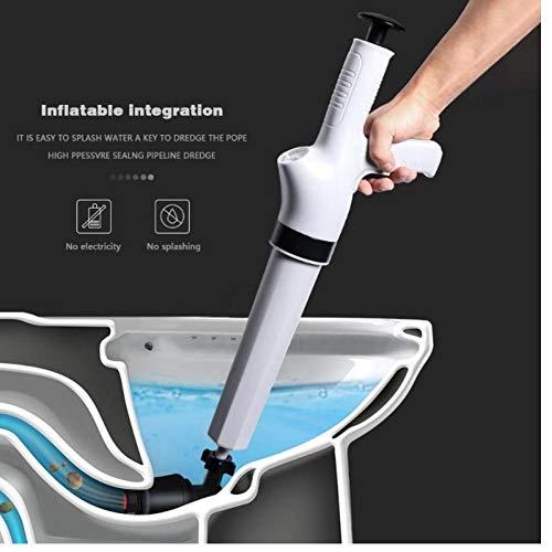 Oulensy Hochdruck-Luft-Abfluss-Blaster-Pistole ablassen Clog Dredge Werkzeuge Leistungsstarke Toilet Plunger Auger-Reiniger für Badezimmer-Küche-Wanne -