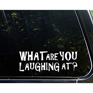 Novelty Sticker Decals for Women What are You Laughing at? Car Window Trucks Laptop Decals 23cm