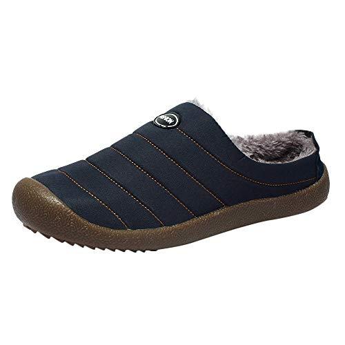 (Hausschuhe Herren Winter Wärme Baumwolle Pantoffeln Bequem Home Slippers Schuhe Wasserdichte Herrenhausschuhe aus Baumwolle sowie warme Hausschuhe aus Samt und Schnee ABsoar)