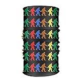 jiilwkie Rainbow Pride Bigfoot Unisex Sport Scarf Headbands Bandana Outdoor Sweatband Headwear