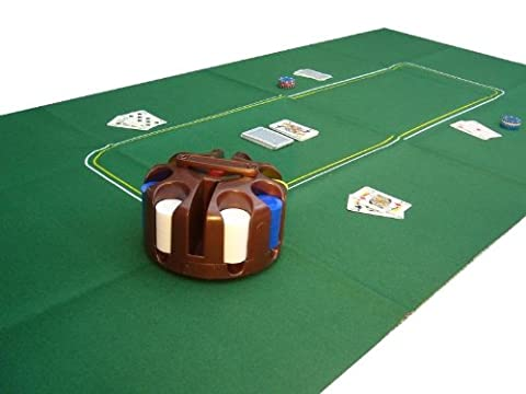 LARGE POKER CASINO FELT BAIZE LAYOUT - TEXAS HOLDEM